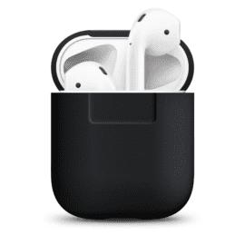 ELAGO Silikonfodral för Apple AirPods svart