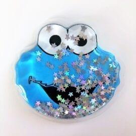 3D Klistermärke Flytande Glitter Cookie Monster