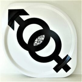 Bricka M+F av Erika Tubbin Kollektion EQUALITY