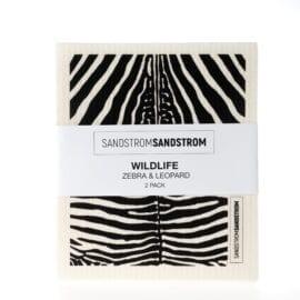 Disktrasa Zebra och Leopard av Sandstrom & Sandstrom Kollektion Wildlife