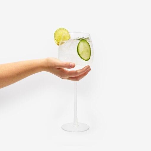 Gigantiskt Gin Glas