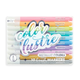 OOLY Color Lustre Metallic Brush Markers - Set of 10