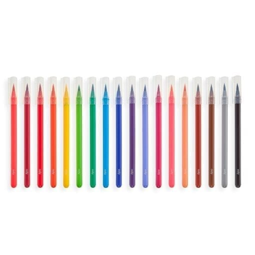 OOLY Chroma Blends Watercolor Brush Markers - set of 18