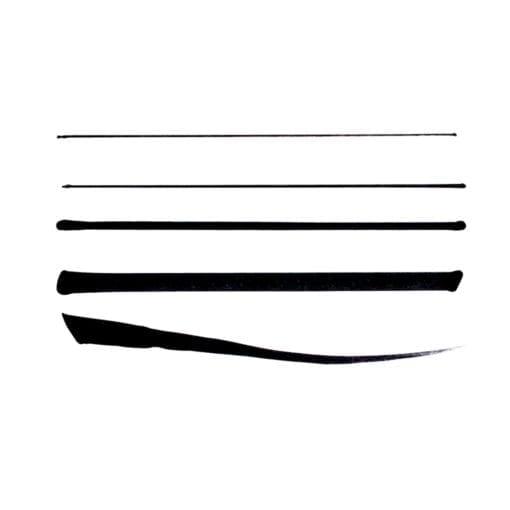 111935-1 OOLY Svarta Tuschpennor The Ink Works Markers - Set om 5