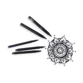 111935-2 OOLY Svarta Tuschpennor The Ink Works Markers - Set om 5