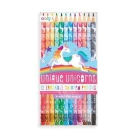 OOLY Unique Unicorns Erasable Colored Pencils - set of 12