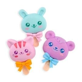 OOLY Cutie Pops Strawberry Scented Puzzle Erasers - set of 3