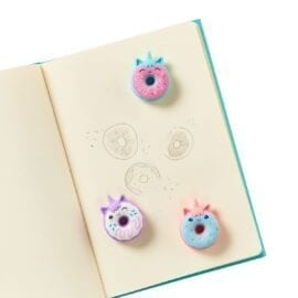 OOLY Magic Bakery Unicorn Donuts Scented Erasers - set of 3
