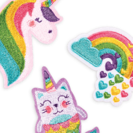 OOLY Patch 'em Unicorn Pals Iron on Patches - set of 3