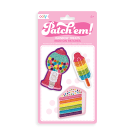 OOLY Patch 'em Rainbow Treats Iron on Patches - set of 3