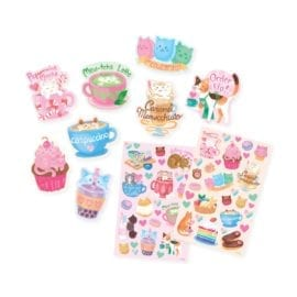 111945-3 OOLY Luktisar Cat Café Chocolate Scented Stickers