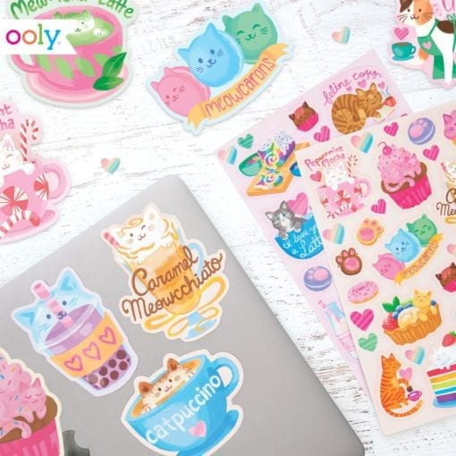 111945-4 OOLY Luktisar Cat Café Chocolate Scented Stickers