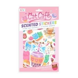 111945 OOLY Luktisar Cat Café Chocolate Scented Stickers