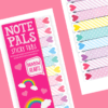 OOLY Note Pals Sticky Tabs - Rainbow Hearts