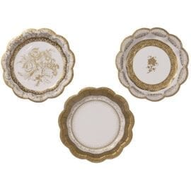 Pappersassietter Vintage Guld – Party Porcelain