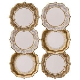 111954-5 Talking Tables Papperstallrikar Vintage Guld 20 cm 12 st – Party Porcelain