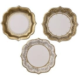 Papperstallrikar Vintage Guld – Party Porcelain