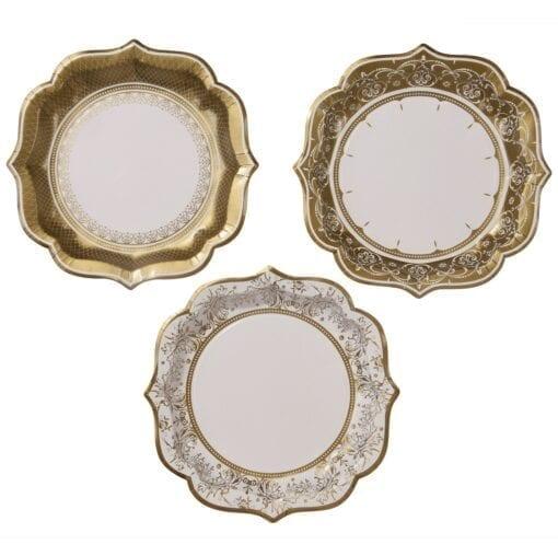 Papperstallrikar Vintage Guld – Party Porcelain
