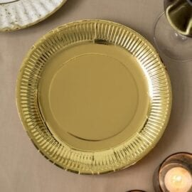 Papperstallrikar Guld Metallic – Modern Metallics