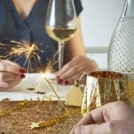 Bordslöpare Guld & Glitter