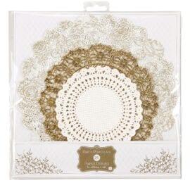 Tårtpapper Guld - Party Porcelain