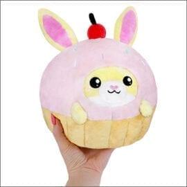 Mini Squishable Undercover Bunny in Cupcake Suit - 18 cm