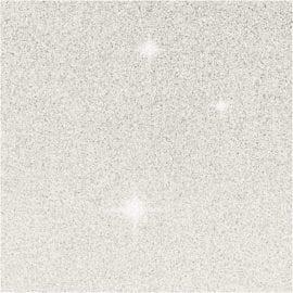 Kort & Kuvert Vit Glitter 10.5x15 cm 4-pack