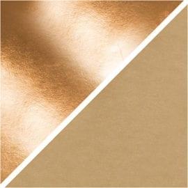 112038 Läderpapper Rosa Guld Guld 1 m