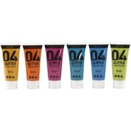 A-Color Akrylfärg Glitter Mixade Färger 6-pack