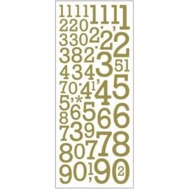 Stickers Siffror Guld