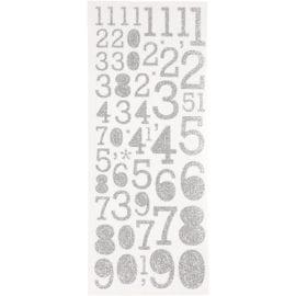 Stickers Siffror Silver