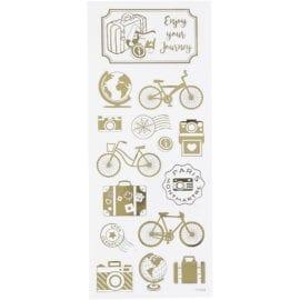 Stickers Jorden Runt Guldfolie