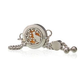 Armband Aromaterapi Cat and Flowers 20 mm