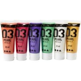 A-Color Akrylfärg 03 Pearl Metallic 6-pack