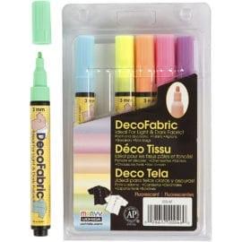 Deco Textilpennor Neon Set om 6