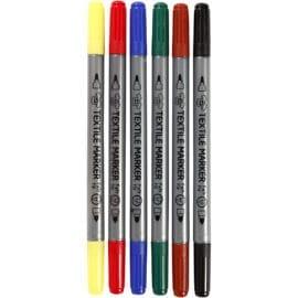 Textilpennor Standardfärger Set om 6