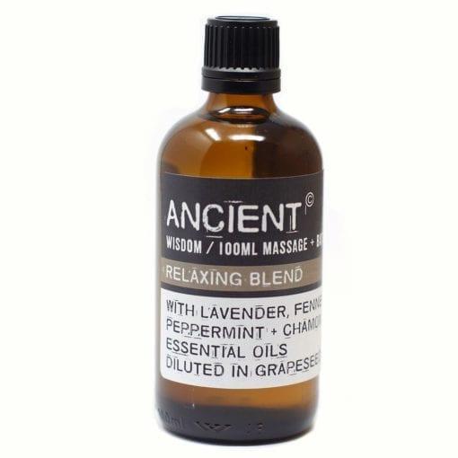 112150-1 Relaxing Blend Eteriska Kropps- Och Massageoljor För Aromaterapi 100 ml - Ancient Wisdom