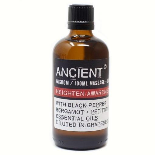 112150-10 Heighten Awareness Eteriska Kropps- Och Massageoljor För Aromaterapi 100 ml - Ancient Wisdom