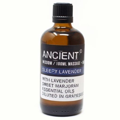112150-11 Sleepy Lavender Eteriska Kropps- Och Massageoljor För Aromaterapi 100 ml - Ancient Wisdom