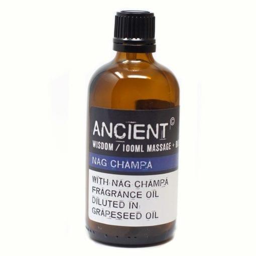 112150-13 Nag Champa Eteriska Kropps- Och Massageoljor För Aromaterapi 100 ml - Ancient Wisdom