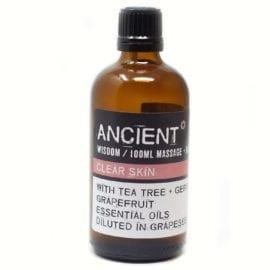 112150-14 Clear Skin Eteriska Kropps- Och Massageoljor För Aromaterapi 100 ml - Ancient Wisdom