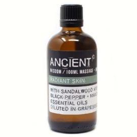 112150-3 Radiant Skin Eteriska Kropps- Och Massageoljor För Aromaterapi 100 ml - Ancient Wisdom