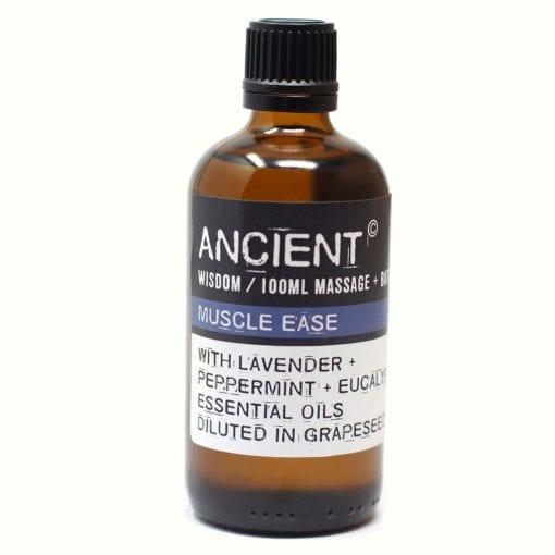 112150-4 Muscle Ease Eteriska Kropps- Och Massageoljor För Aromaterapi 100 ml - Ancient Wisdom