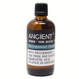 112150-6 Peppermint Fresh Eteriska Kropps- Och Massageoljor För Aromaterapi 100 ml - Ancient Wisdom