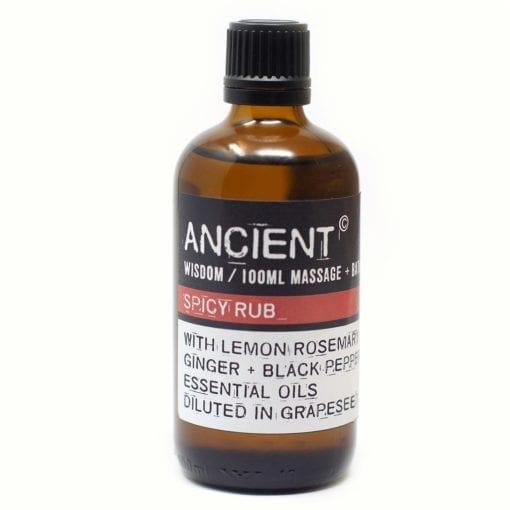 112150-7 Spicy Rub Eteriska Kropps- Och Massageoljor För Aromaterapi 100 ml - Ancient Wisdom