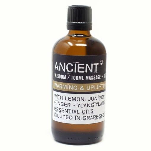 112150-9 Warming & Upliftning Eteriska Kropps- Och Massageoljor För Aromaterapi 100 ml - Ancient Wisdom