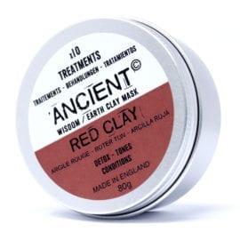 112151-2 Ansiktsmask Röd Kaolinlera 80 gram - Ancient Wisdom