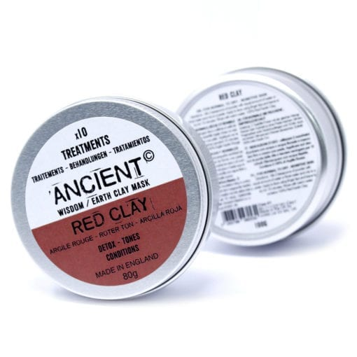 112151-3 Ansiktsmask Röd Kaolinlera 80 gram - Ancient Wisdom