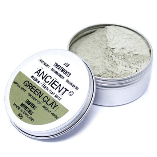 112152 Ansiktsmask Grön Illite Lera 80 gram - Ancient Wisdom