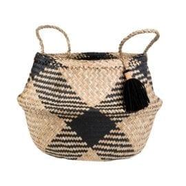 112170 Förvaringskorg Black Tribal Tassel - Scandi Boho